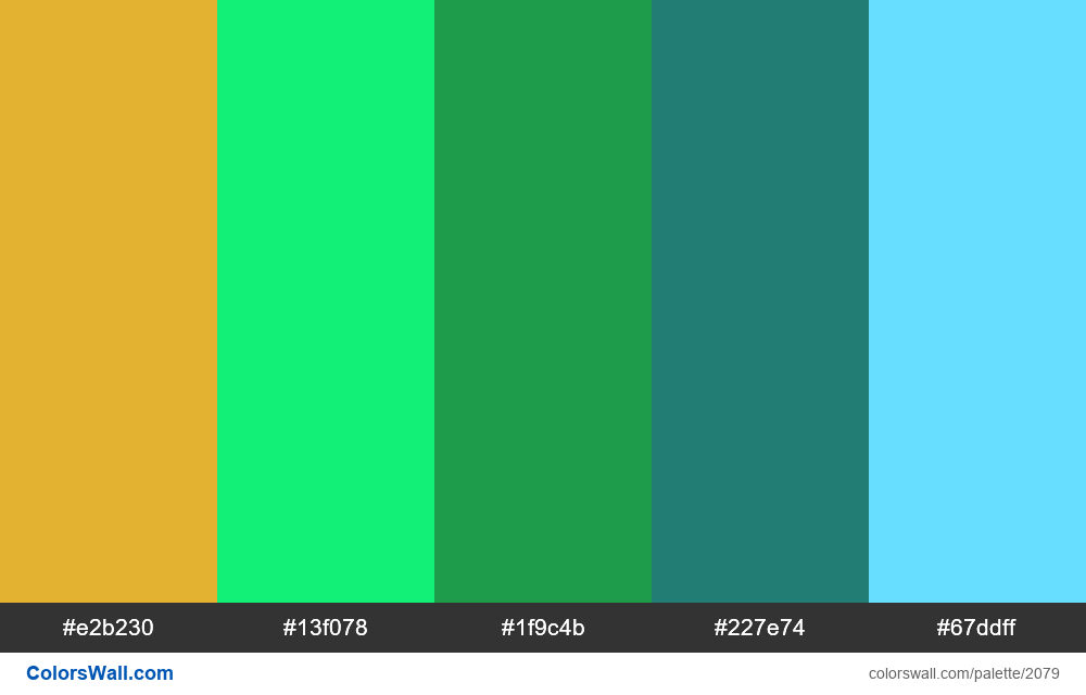 #colorswall palette #1248 - #2079
