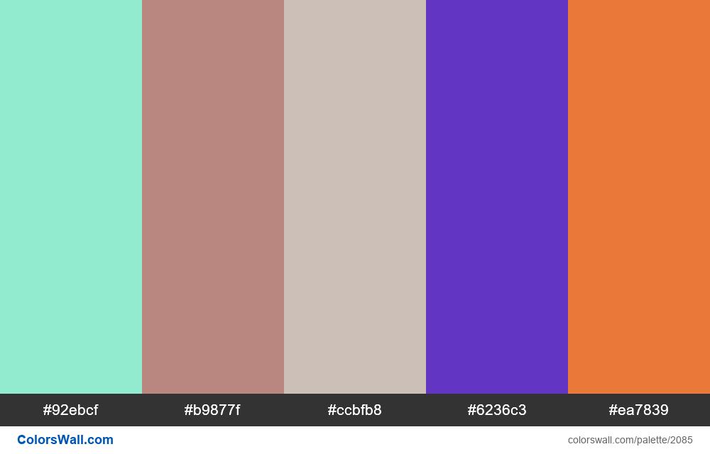 #colorswall palette #1251 - #2085