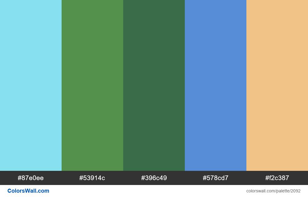 #colorswall palette #1258 - #2092