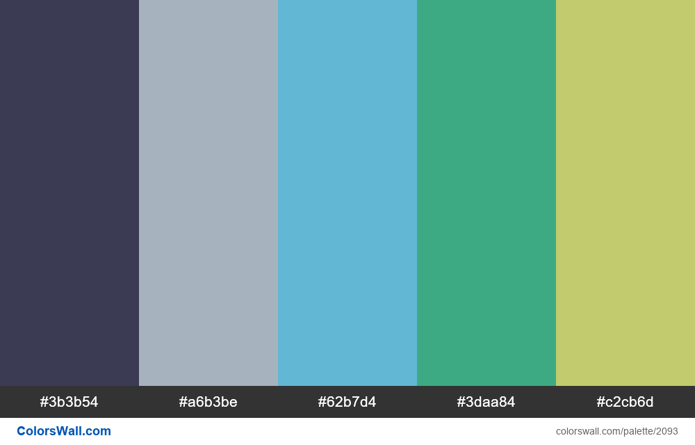 #colorswall palette #1259 - #2093
