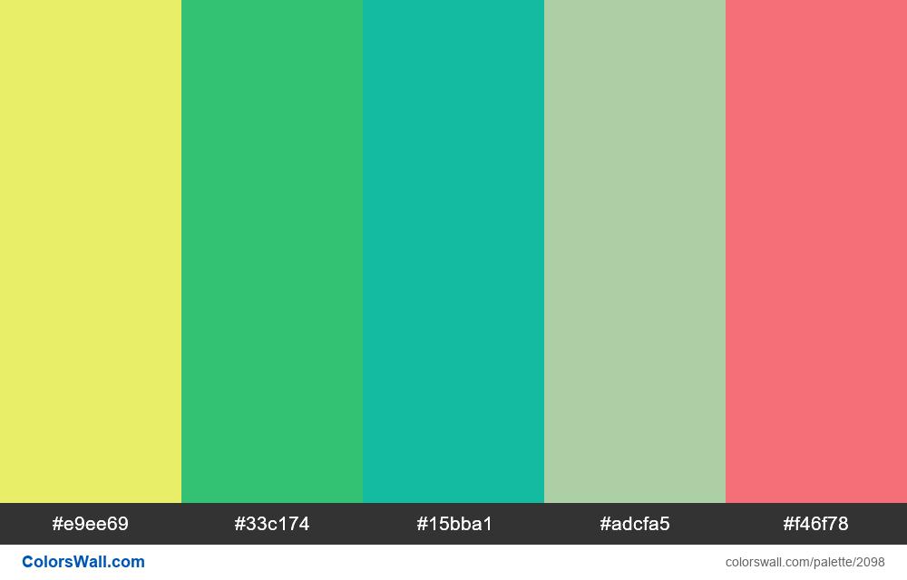 #colorswall palette #1264 - #2098