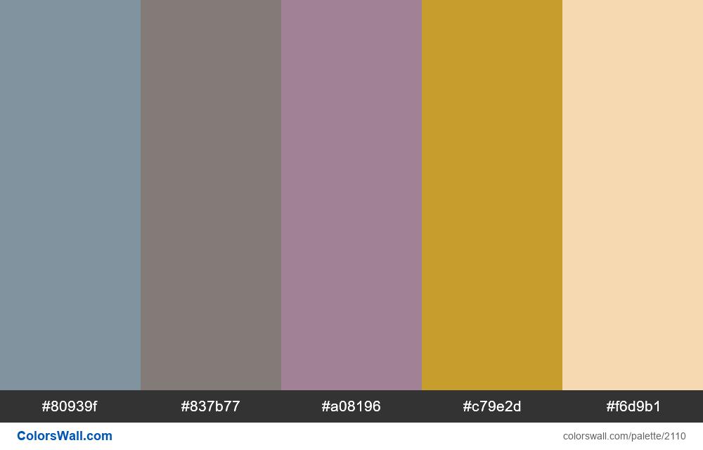 #colorswall palette #1268 - #2110