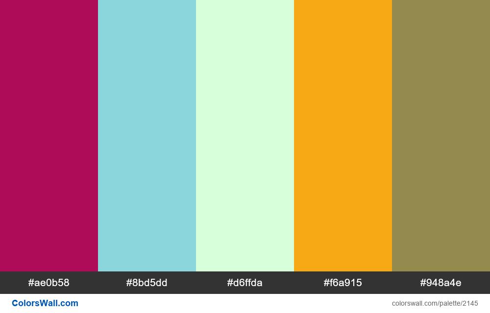 #colorswall palette #1283 - #2145