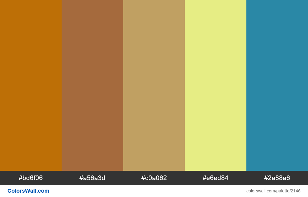 #colorswall palette #1284 - #2146