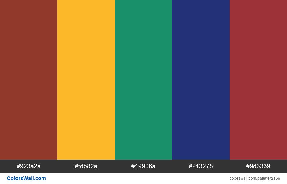 #colorswall palette #1290 - #2156