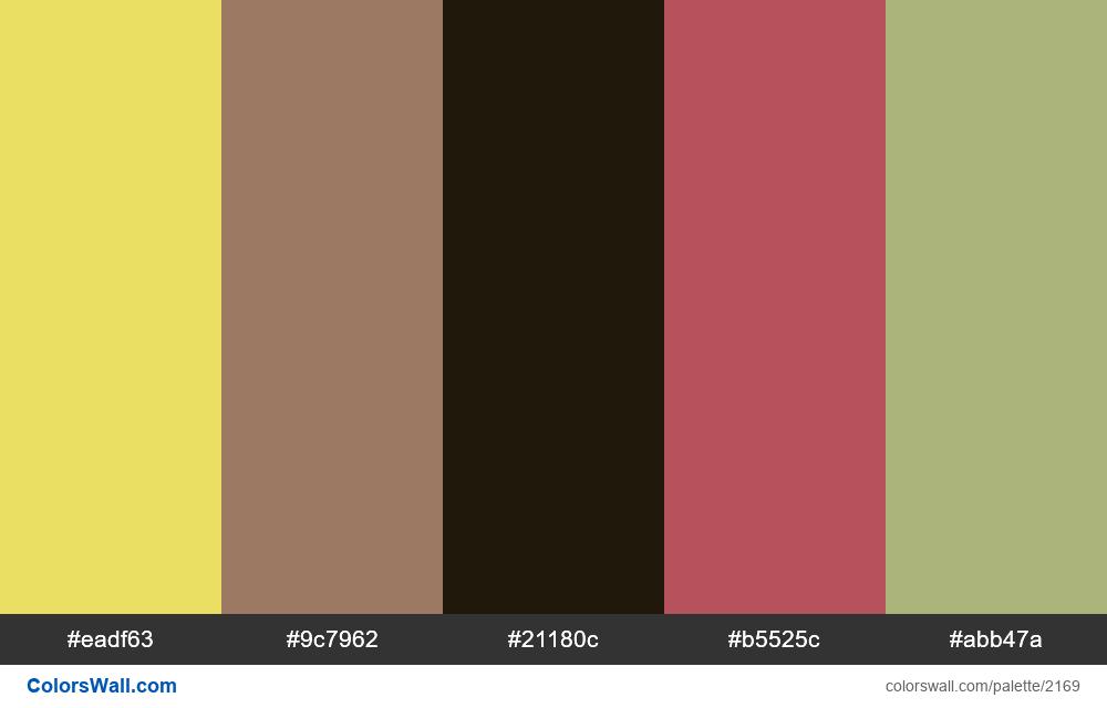 #colorswall palette #1296 - #2169