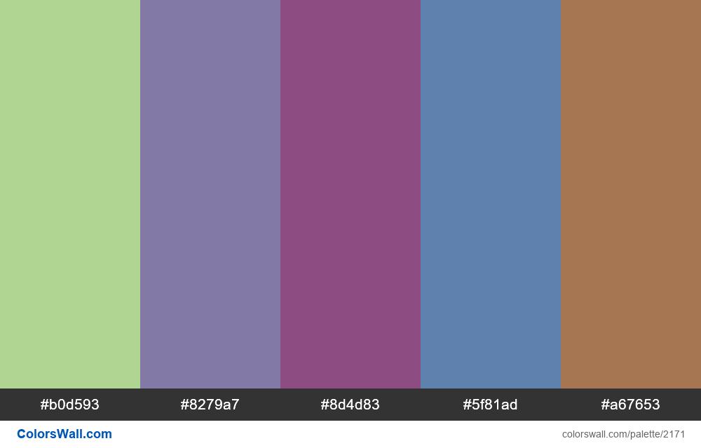 #colorswall palette #1298 - #2171