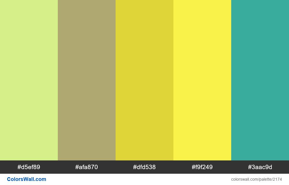 #colorswall palette #1301 - #2174