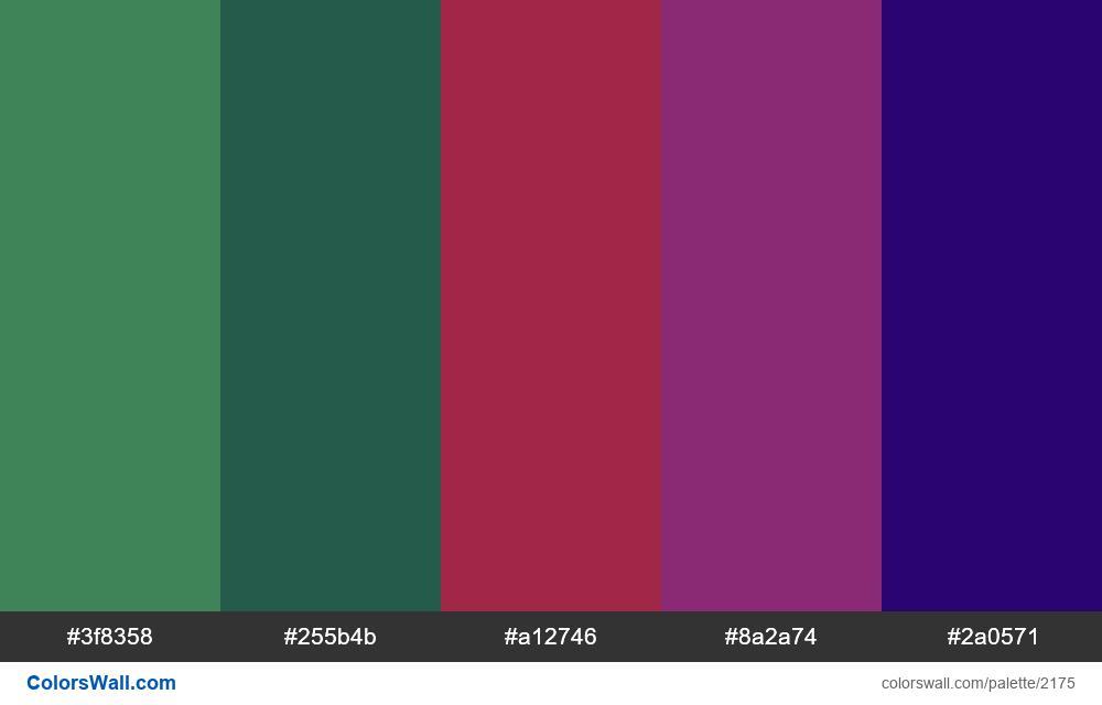 #colorswall palette #1303 - #2175