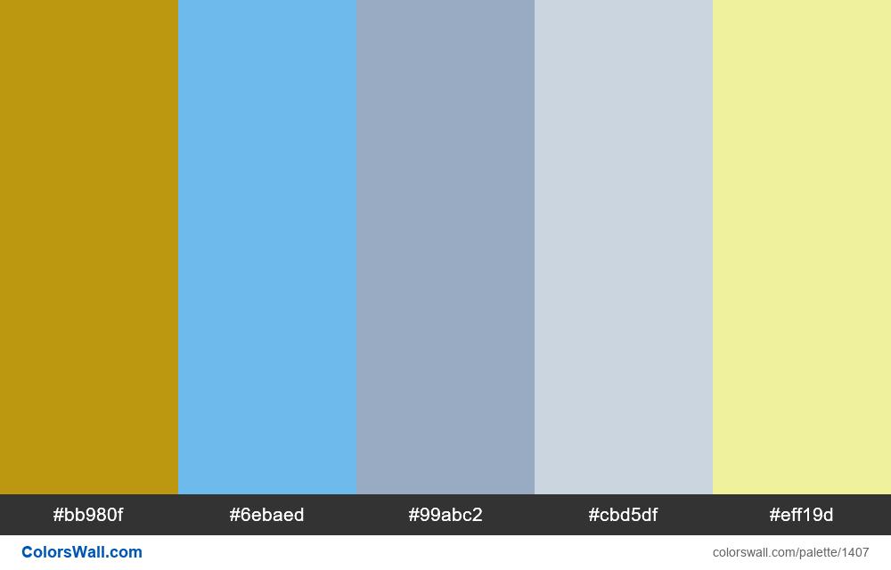 #colorswall palette #748 - #1407