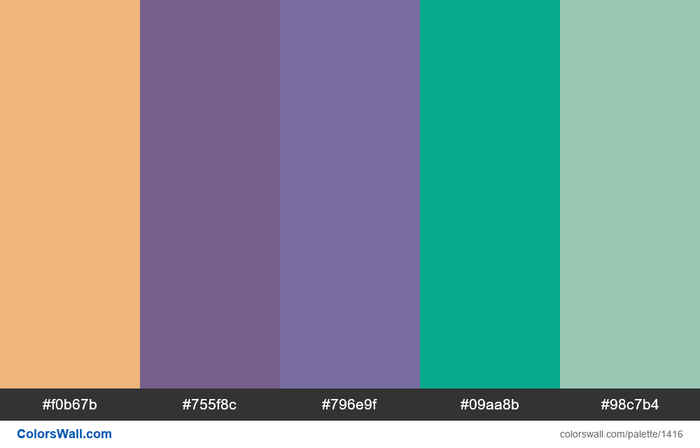 #colorswall palette #757 - #1416