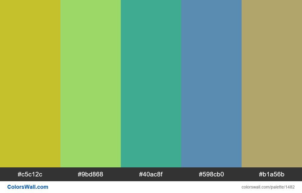 #colorswall palette #770 - #1482