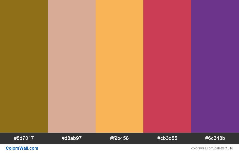 #colorswall palette #782 - #1516