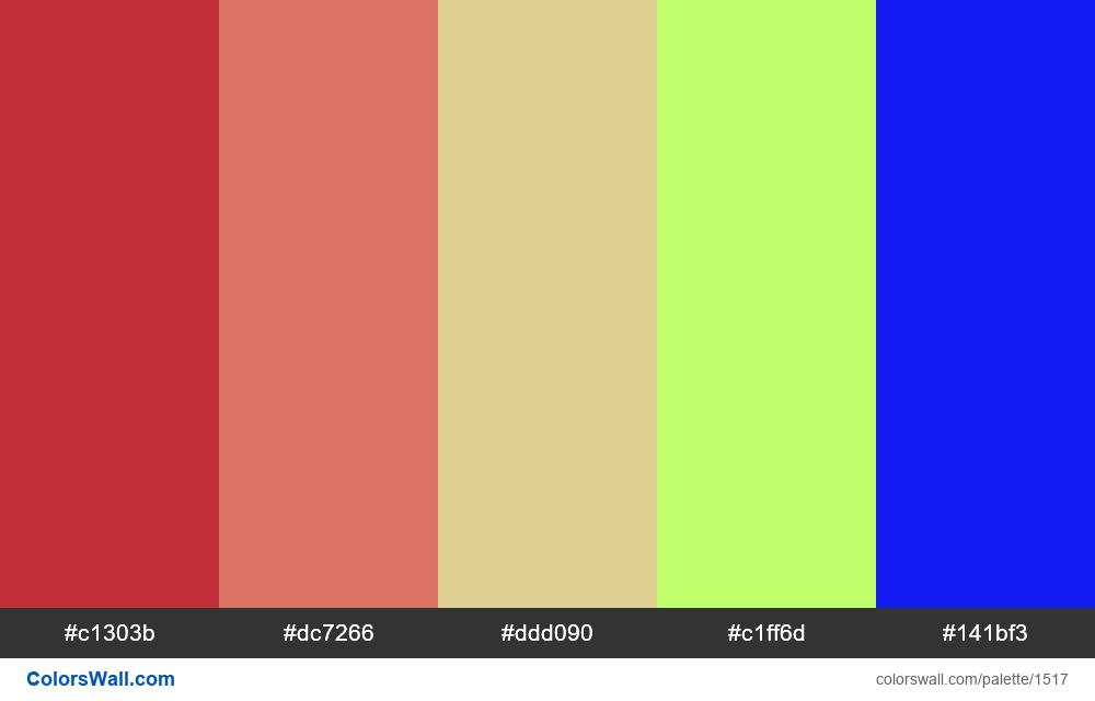 #colorswall palette #783 - #1517