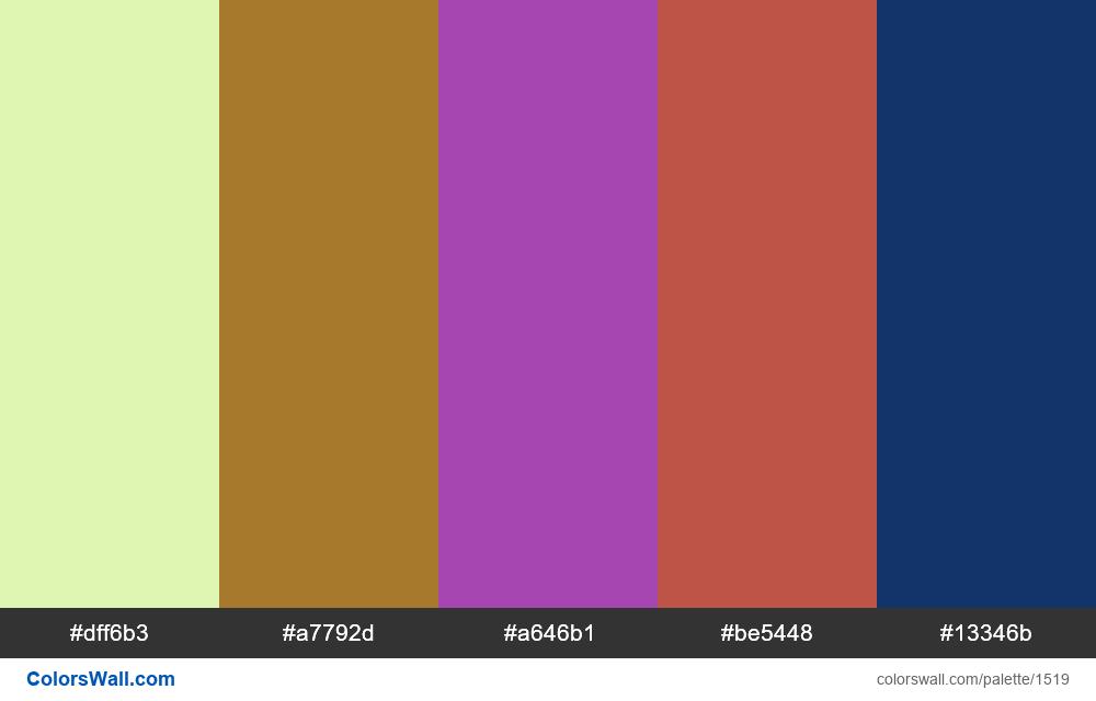 #colorswall palette #785 - #1519