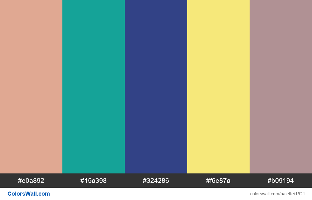 #colorswall palette #787 - #1521