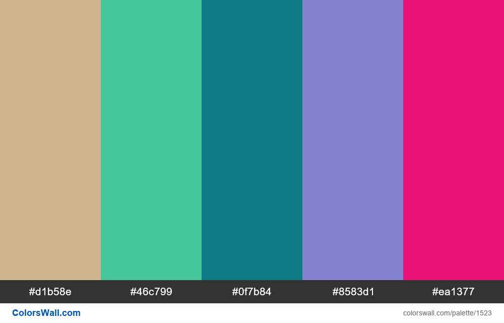 #colorswall palette #789 - #1523