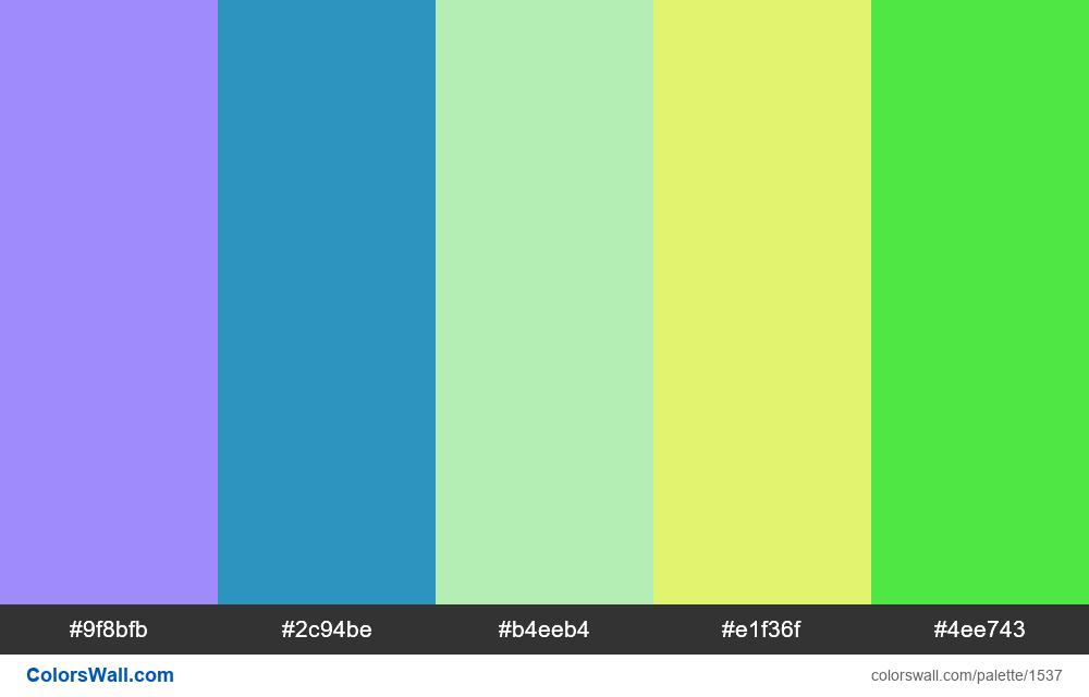 #colorswall palette #799 - #1537