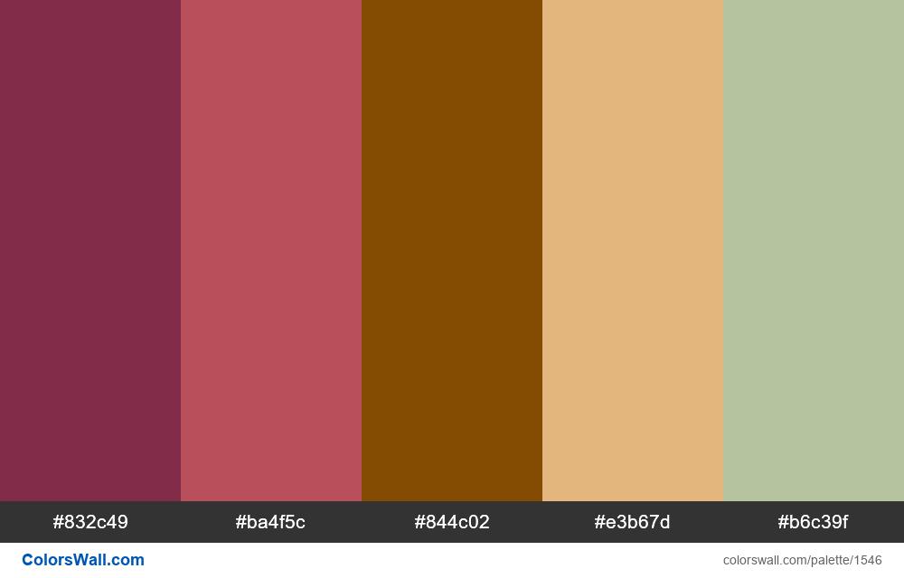 #colorswall palette #806 - #1546