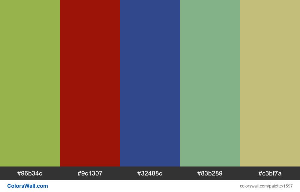 #colorswall palette #846 - #1597
