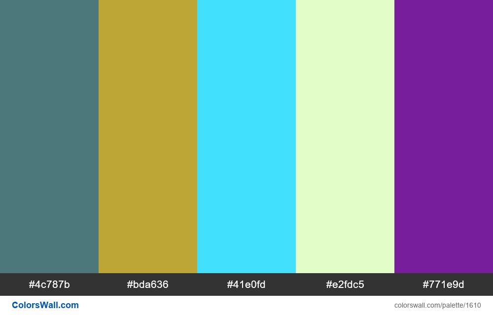 #colorswall palette #859 - #1610
