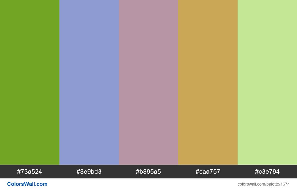 #colorswall palette #915 - #1674