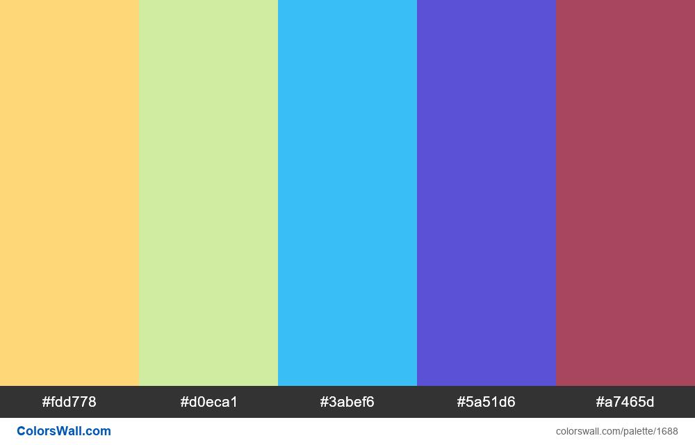 #colorswall palette #925 - #1688