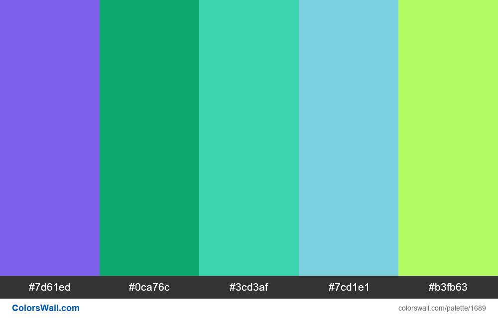 #colorswall palette #926 - #1689