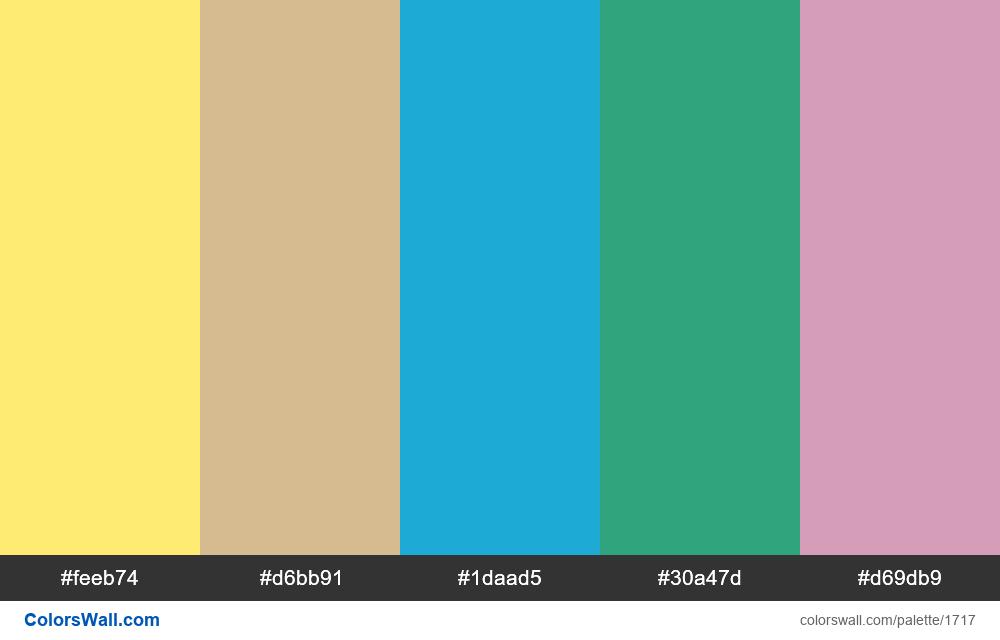 #colorswall palette #951 - #1717