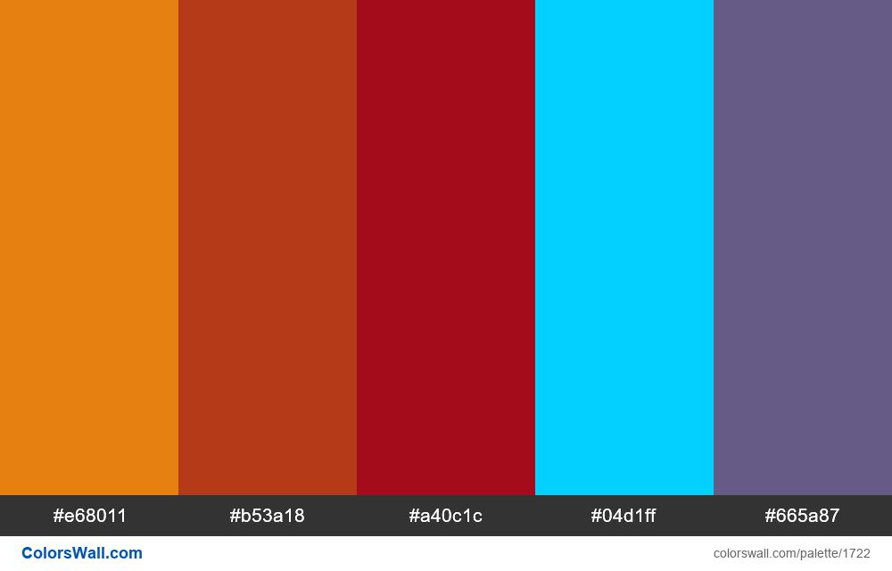 #colorswall palette #956 - #1722