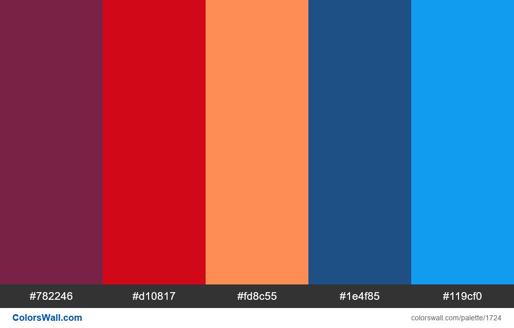 #colorswall palette #958 - #1724