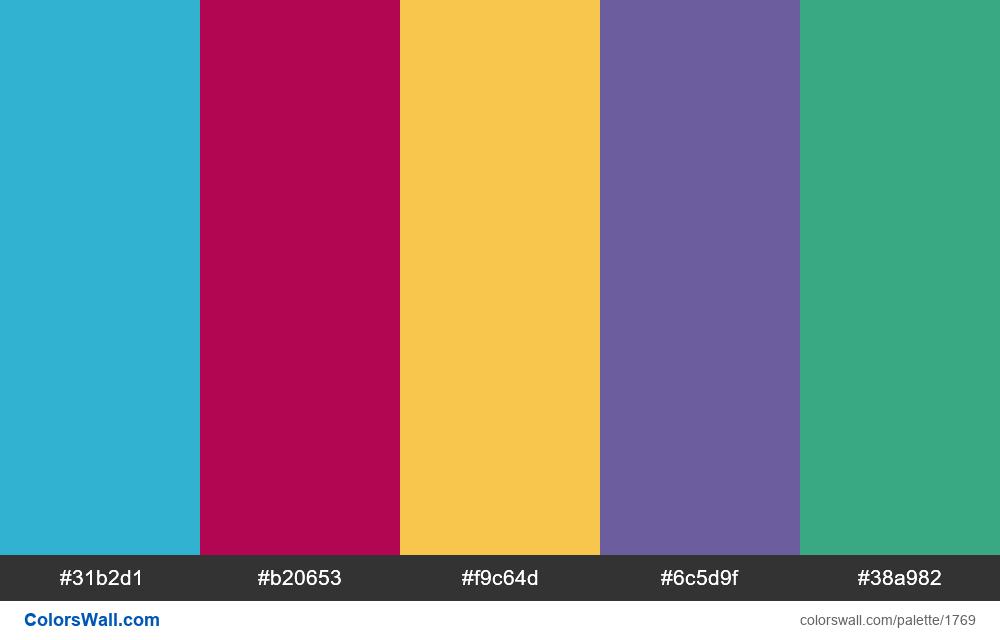 #colorswall palette #994 - #1769