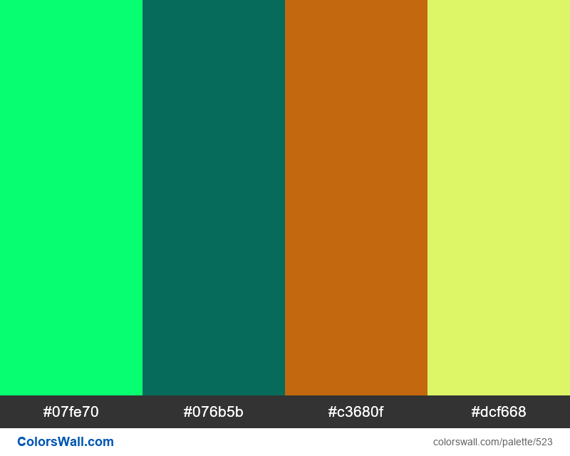 #colorswall random #103 colors palette - #523