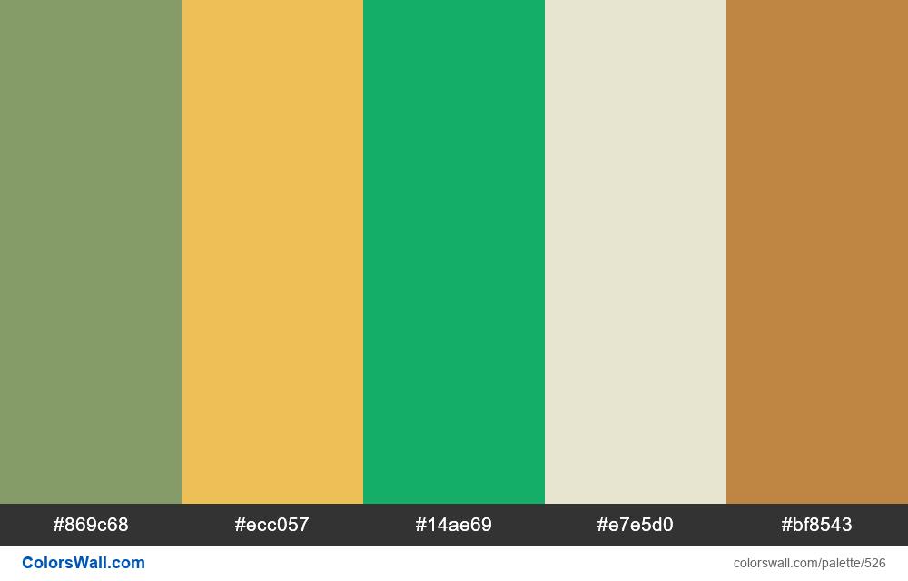 #colorswall random #104 colors palette - #526