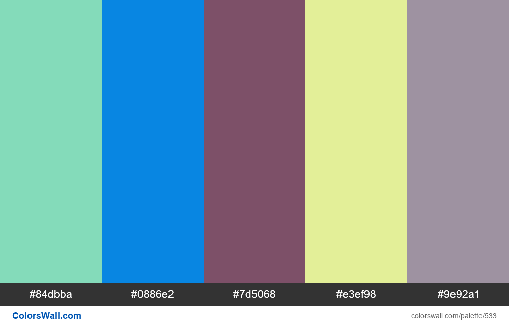#colorswall random #109 colors palette - #533