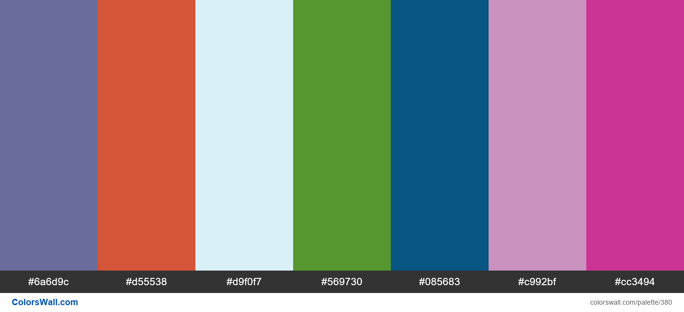 #colorswall random #11 colors palette - #380