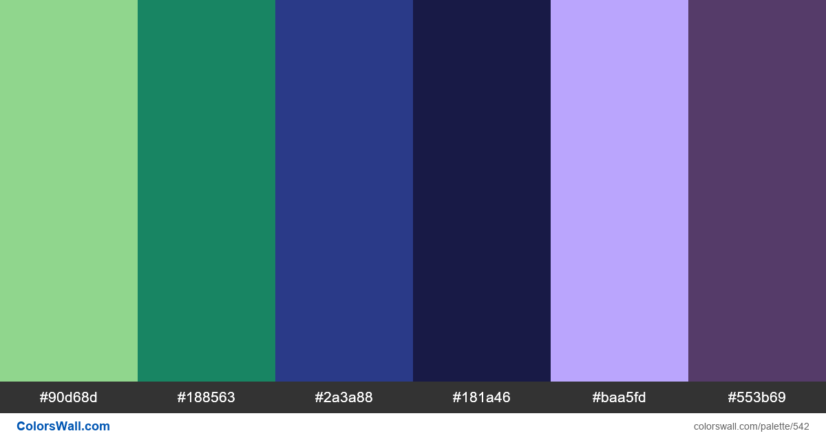 #colorswall random #118 colors palette - #542