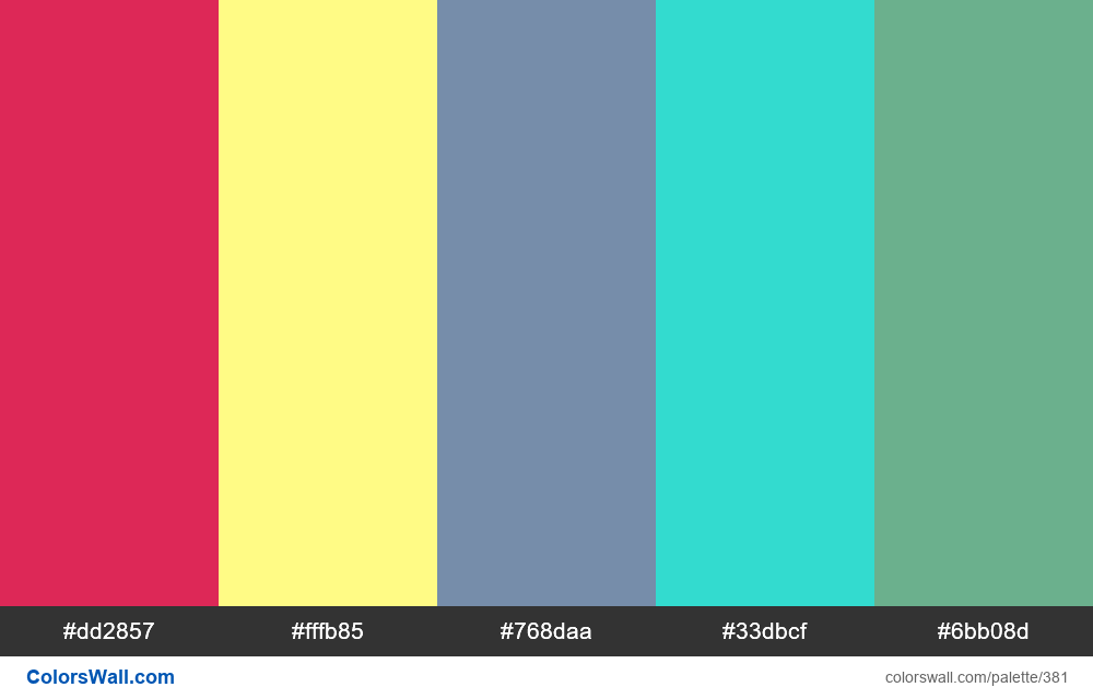 #colorswall random #12 colors palette - #381