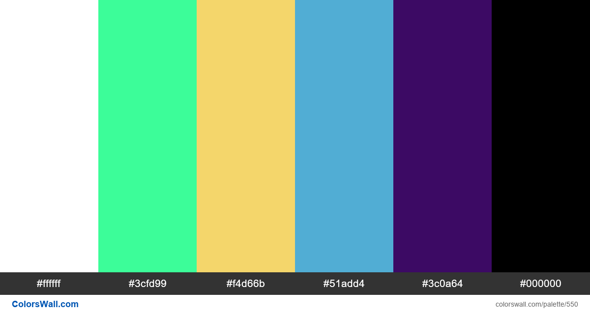 #colorswall random #126 colors palette - #550