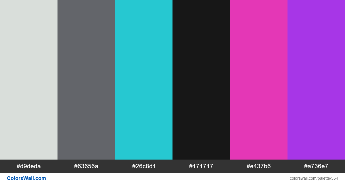 #colorswall random #130 colors palette - #554