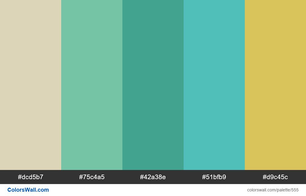 #colorswall random #131 colors palette - #555