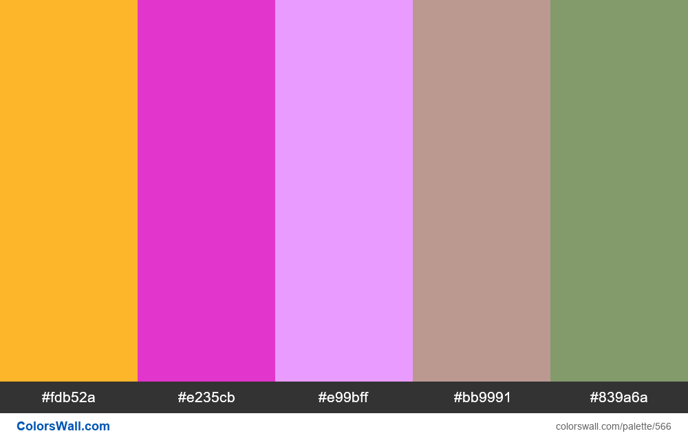 #colorswall random #142 colors palette - #566