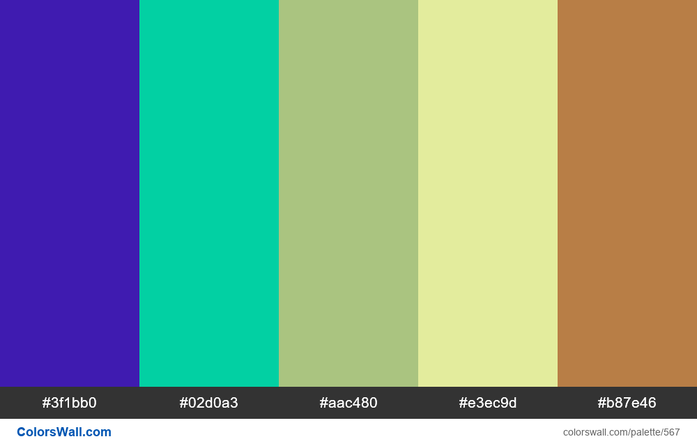 #colorswall random #143 colors palette - #567