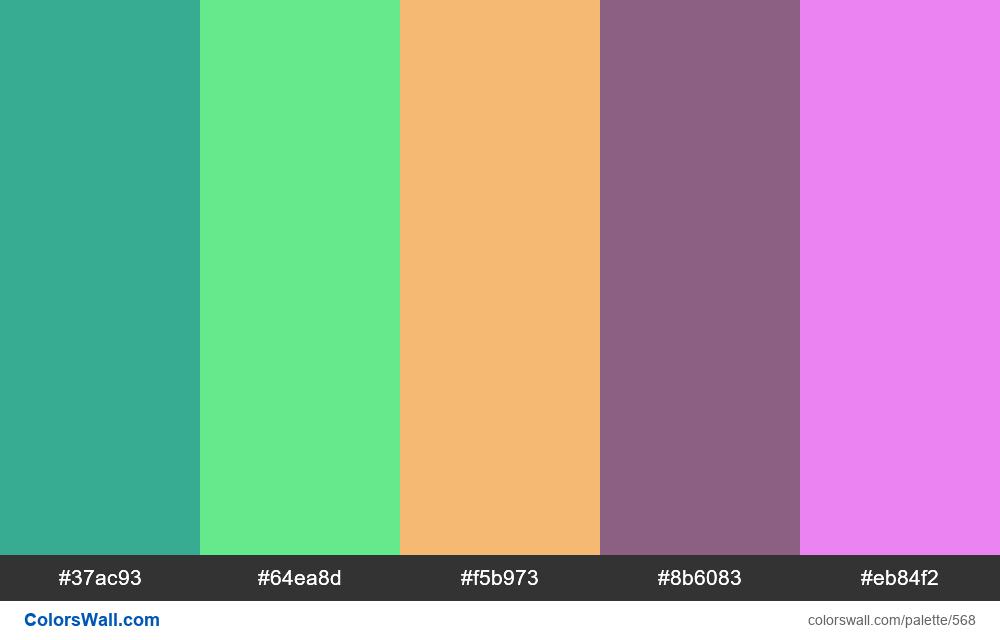 #colorswall random #144 colors palette - #568