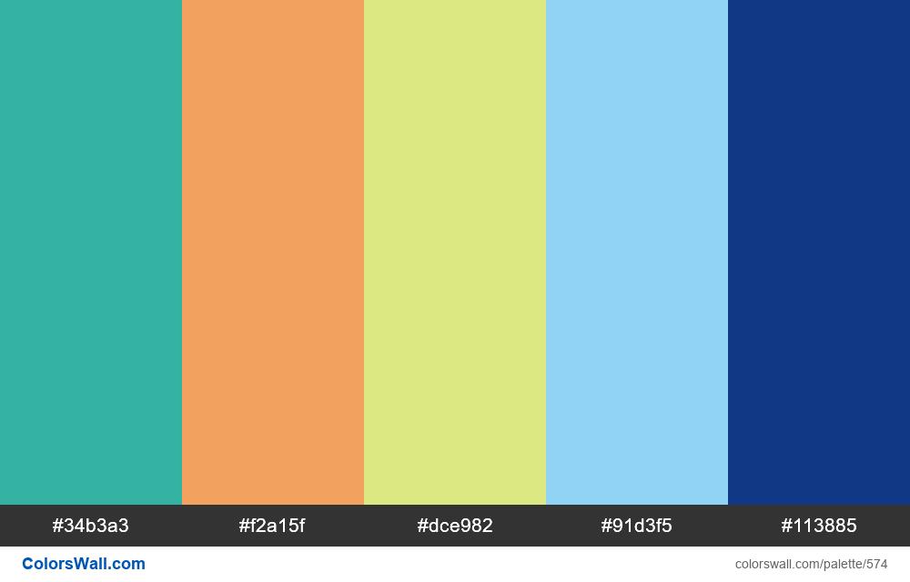 #colorswall random #145 colors palette - #574