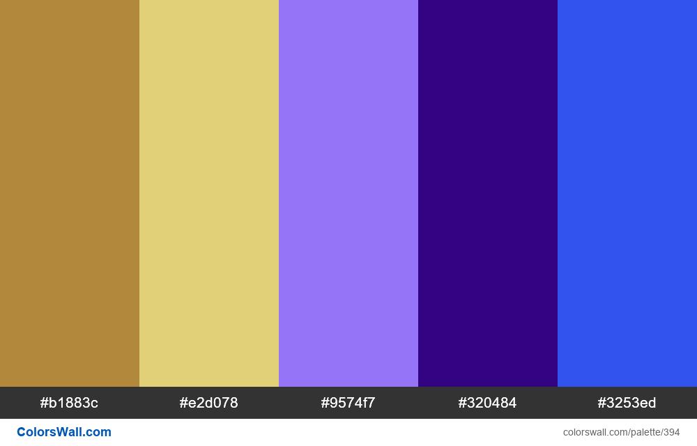 #colorswall random #15 colors palette - #394