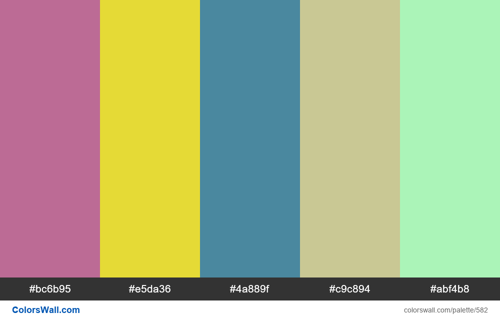 #colorswall random #151 colors palette - #582
