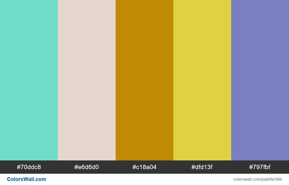 #colorswall random #154 colors palette - #586