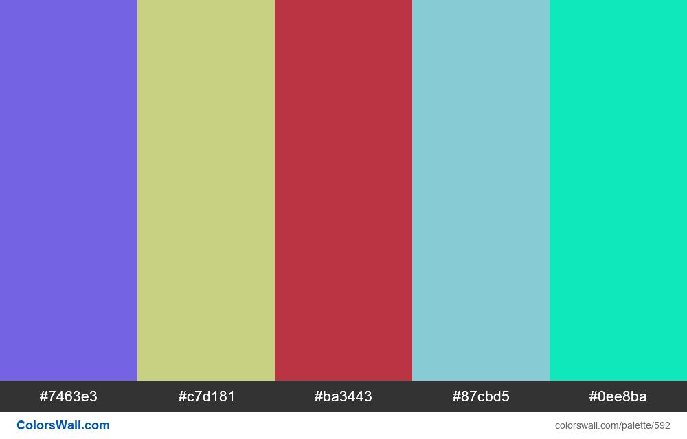 #colorswall random #159 colors palette - #592