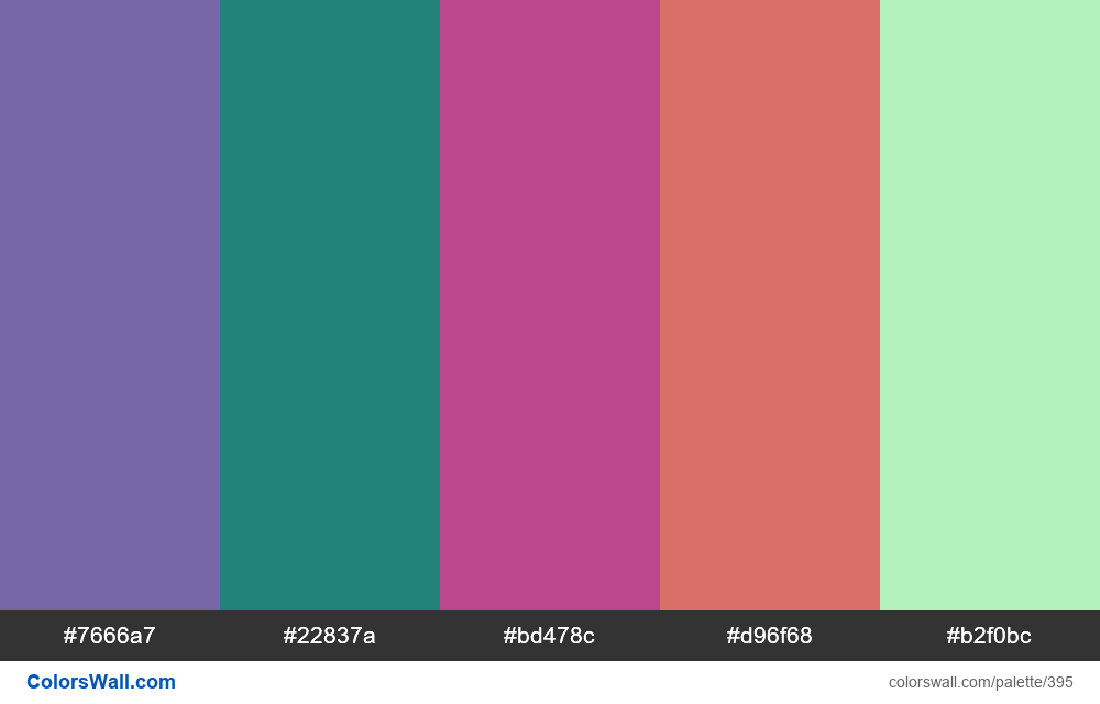 #colorswall random #16 colors palette - #395
